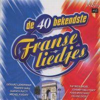 Cover  - De 40 bekendste Franse liedjes