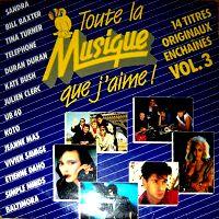 Cover  - Toute la musique que j'aime Vol. 3