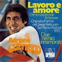 Cover Adriano Celentano - Lavoro e amore