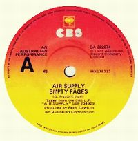 Cover Air Supply - Empty Pages