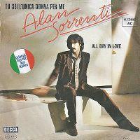 Cover Alan Sorrenti - Tu sei l'unica donna per me