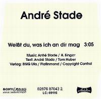 Cover André Stade - Weißt du, was ich an dir mag