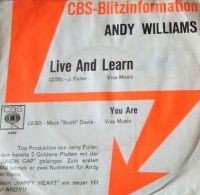 Cover Andy Williams - Live And Learn