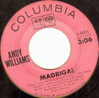 Cover Andy Williams - Madrigal