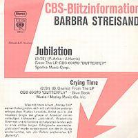Cover Barbra Streisand - Jubilation