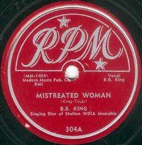 Cover B.B. King - Mistreated Woman