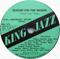 Cover Bechet / Mezzrow Quintet - Blood On The Moon
