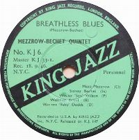 Cover Bechet / Mezzrow Quintet - Breathless Blues