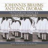 Cover Berlin Philharmonic Orchestra / Herbert von Karajan - Johannes Brahms - Antonín Dvořák