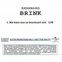 Cover Bernhard Brink - Wie kann man so bescheuert sein