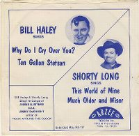 Cover Bill Haley And His Saddle Men feat. Billy Williamson - Why Do I Cry Over You?