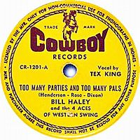 Cover Bill Haley And The 4 Aces Of Western Swing - Too Many Parties And Too Many Pals