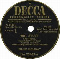Cover Billie Holiday - Big Stuff