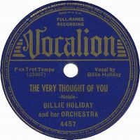 Cover Billie Holiday - The Very Thought Of You