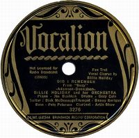 Cover Billie Holiday & Her Orchestra - Did I Remember
