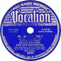 Cover Billie Holiday & Her Orchestra - Me, Myself And I
