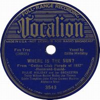 Cover Billie Holiday & Her Orchestra - Where Is The Sun?