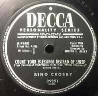 Cover Bing Crosby - Count Your Blessings Instead Of Sheep