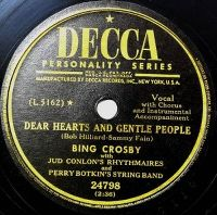 Cover Bing Crosby - Dear Hearts And Gentle People