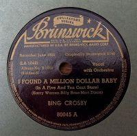 Cover Bing Crosby - I Found A Million Dollar Baby