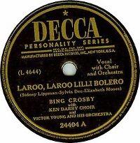 Cover Bing Crosby - Laroo, Laroo Lilli Bolero