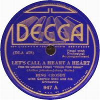 Cover Bing Crosby - Let's Call A Heart A Heart