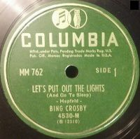 Cover Bing Crosby - Let's Put Out The Lights (And Go To Sleep)