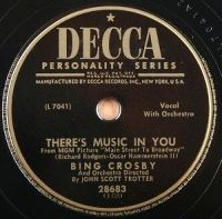 Cover Bing Crosby - There's Music In You