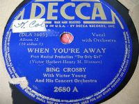 Cover Bing Crosby - When You're Away