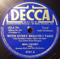 Cover Bing Crosby - With Every Breath I Take