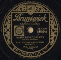 Cover Bing Crosby And Connie Boswell - Basin Street Blues