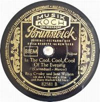 Cover Bing Crosby & Jane Wyman - In The Cool, Cool, Cool Of The Evening