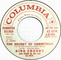 Cover Bing Crosby with Frank DeVol & His Orchestra - The Secret Of Christmas