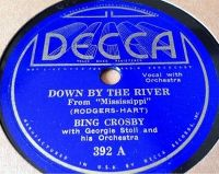 Cover Bing Crosby With Georgie Stoll And His Orchestra - Down By The River