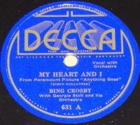 Cover Bing Crosby With Georgie Stoll And His Orchestra - My Heart And I