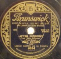 Cover Bing Crosby with Lennie Hayton And His Orchestra - After Sundown