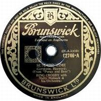 Cover Bing Crosby With Matty Malneck And His Orchestra - Summer Time
