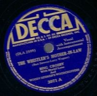 Cover Bing Crosby With Muriel Lane And Woody Herman's Woodchoppers - The Whistler's Mother-In-Law