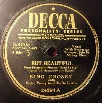 Cover Bing Crosby with Victor Young And His Orchestra - But Beautiful