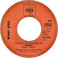 Cover Bobby Solo - Zingara