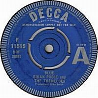 Cover Brian Poole And The Tremeloes - Blue