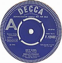 Cover Brian Poole And The Tremeloes - Hey Girl