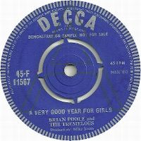 Cover Brian Poole & The Tremeloes - A Very Good Year For Girls