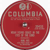Cover Burl Ives with Percy Faith And His Orchestra - Noah Found Grace In The Eyes Of The Lord