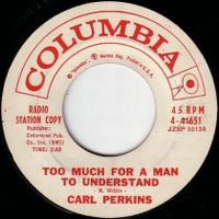 Cover Carl Perkins - Too Much For A Man To Understand