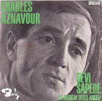 Cover Charles Aznavour - Devi sapere