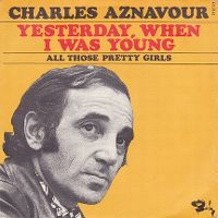 Cover Charles Aznavour - Yesterday, When I Was Young
