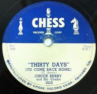 Cover Chuck Berry and His Combo - Thirty Days (To Come Back Home)