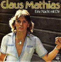 Cover Claus Mathias - Eine Nacht mit Dir