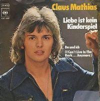 Cover Claus Mathias - Liebe ist kein Kinderspiel
